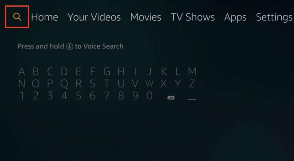firestick search button