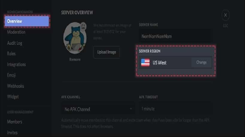 Discord Server Region