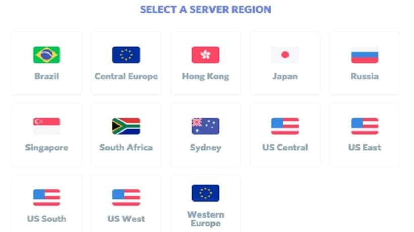 Select server discord