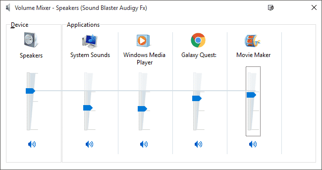 check volume controls