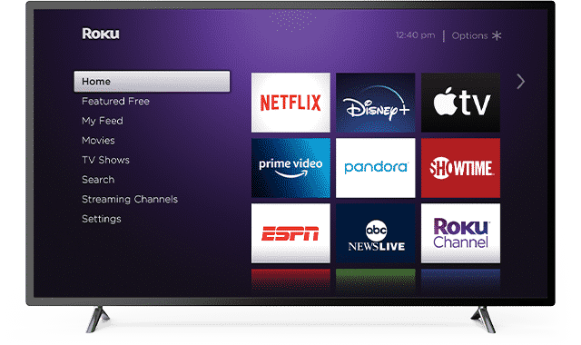 Mobdro Roku Home screen