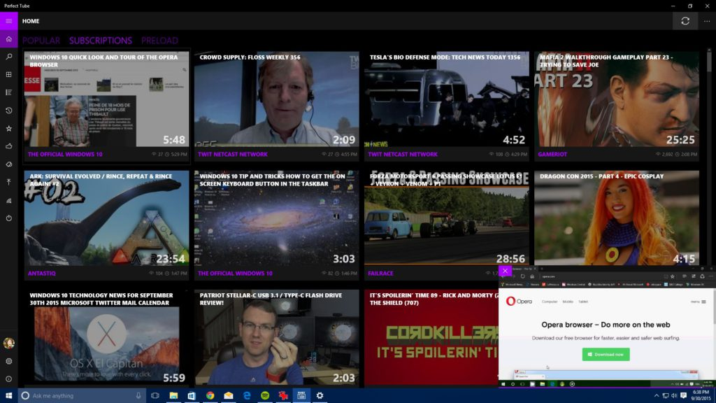 Perfect Tube Best YouTube App for Windows 10