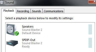 default playback